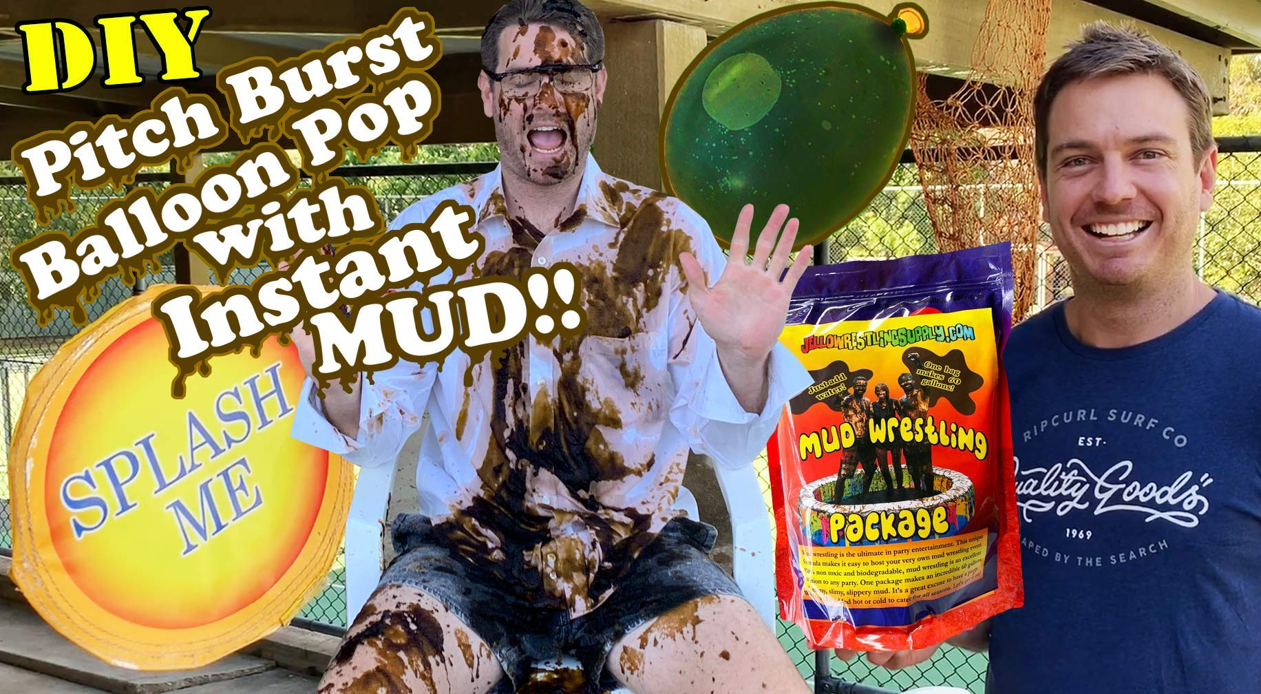 INSTANT MUD for Wrestling, Mud Pies, Balloons & Bombs JUST ADD WATER Bulk Mud powder makes 60 GALLONS of fake mud. Safe, clean mud run obstacle pits, pitch burst, Slime sludge messy kit oil tar by JelloWrestlingSupply.com (Image #4)
