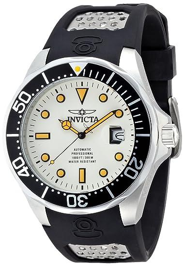 Invicta 11753 - Reloj de Pulsera Hombre, Poliuretano, Color Negro: Amazon.es: Relojes