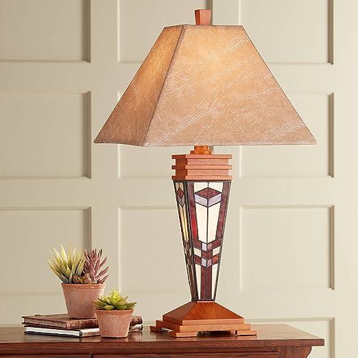 Amazon.com: Art Glass Misión Luz Nocturna lámpara de mesa ...