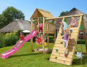 Jungle Gym Cabin Climb Fucsia Parques Infantiles de Madera ...