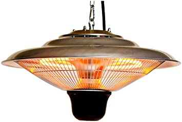 hanging patio heater. MYLEK 1.5kW Patio Heater Electric Hanging Lamp For Outdoor / Garden - Remote Control E