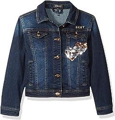 a593f1a359f58 DKNY Girls  Big Denim Fashion Jacket