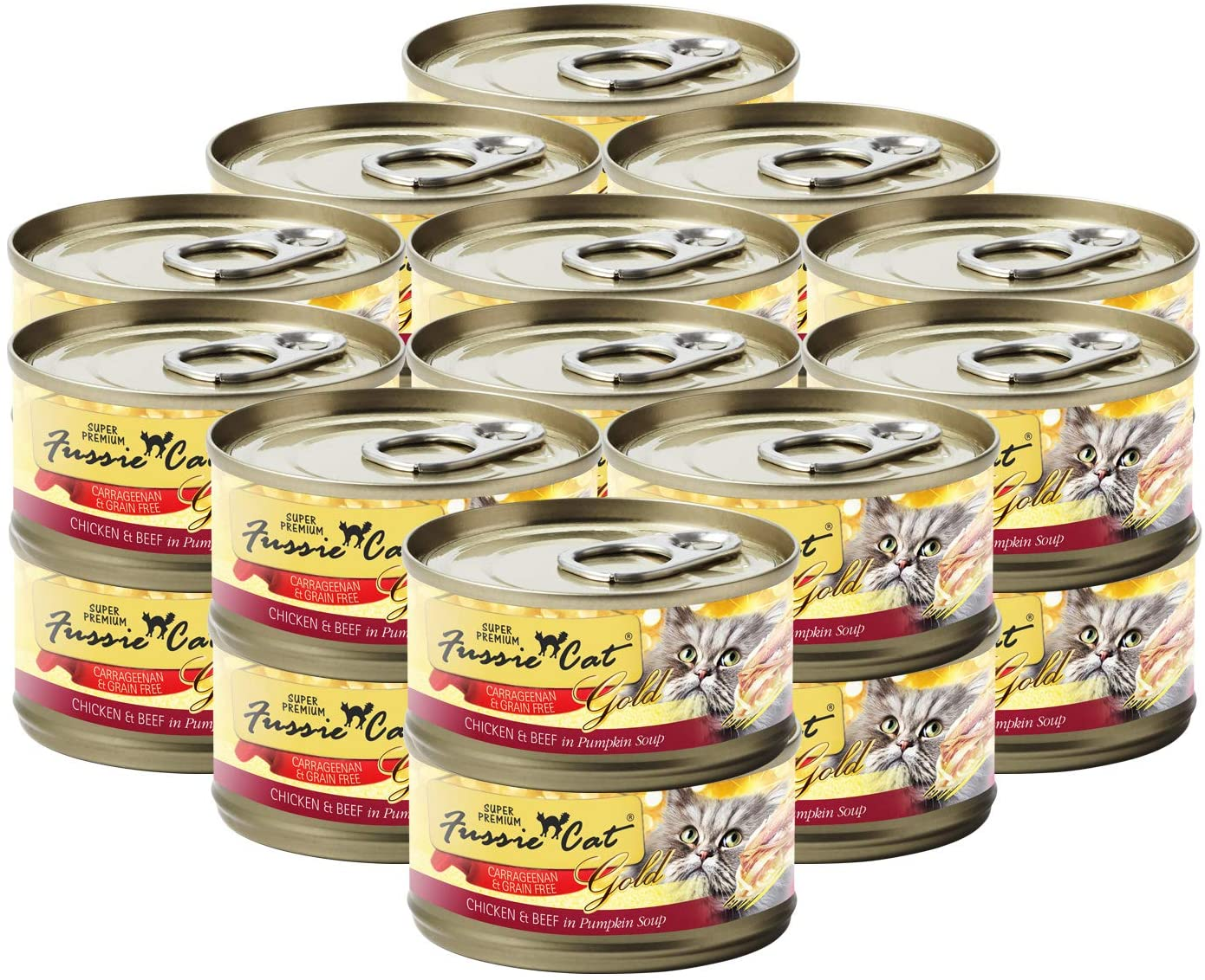 Fussie Cat Super Premium Formula in Gravy Grain-Free Wet Cat Food, 2.82-oz, case of 24