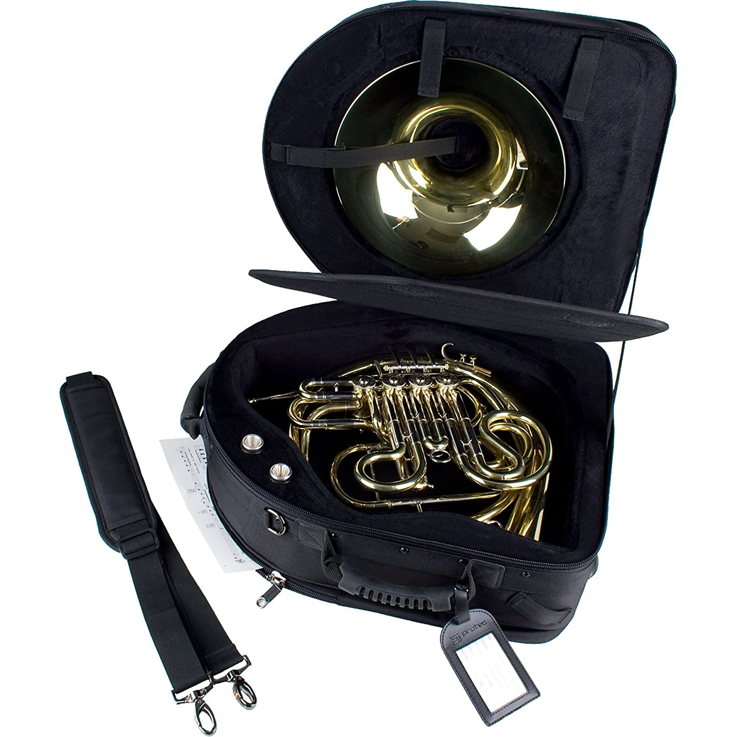 Protec French Horn Screw Bell IPAC Case - Deluxe, Model PB316SBDLX Pro Tec