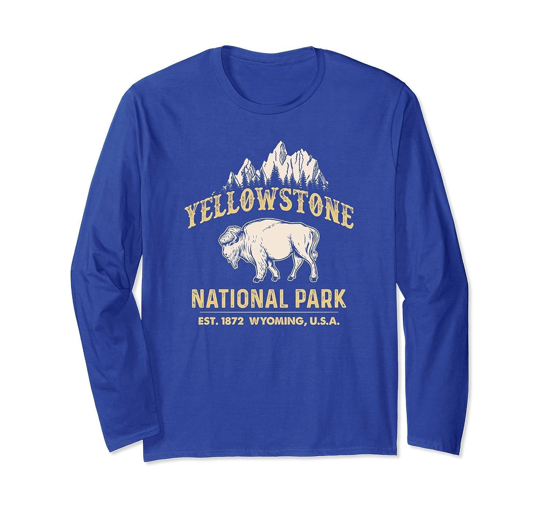 Yellowstone National Park Wyoming Buffalo Long Sleeve Shirt-TH