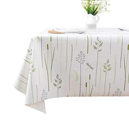 225 & Lavin Tablecloth PVC Wipe Clean Table Cloth Waterproof Oil Cloth Heavy Duty Vinyl Table Cover Rectangle Oilproof Satin-Resistant Home Decoration