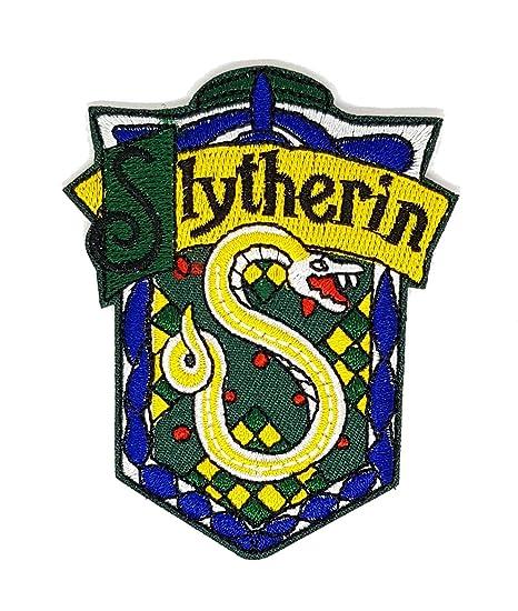 Harry Potter Slytherin corte serpiente Verde Azul Gris | bordado de alta calidad Hierro en parche