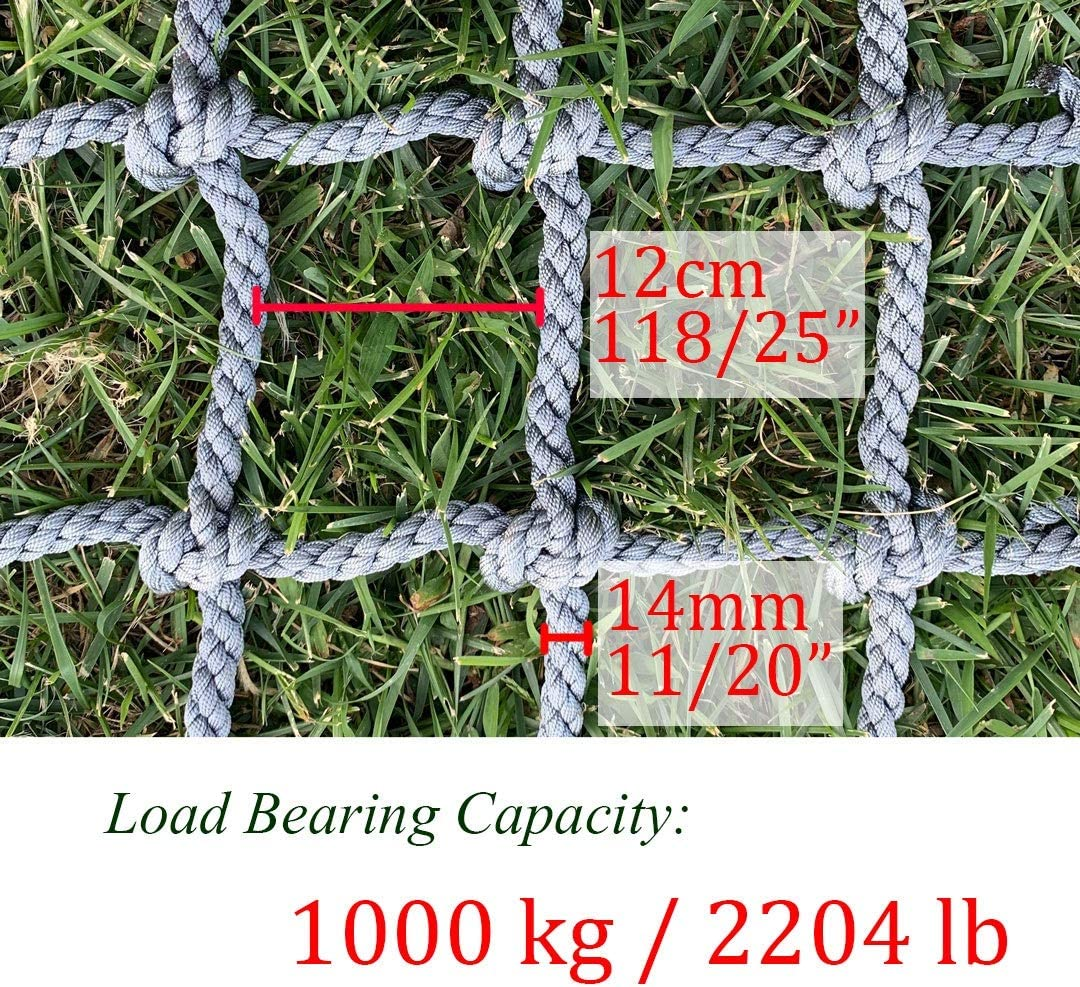 Climbing Cargo Net Protection Net Rope Ladder for Kids Adults Truck Trailer Heavy Duty Netting Balcony Banister Stair Safety Fence Decor Mesh Nets,for Container Grid Rail Playground Outdoor