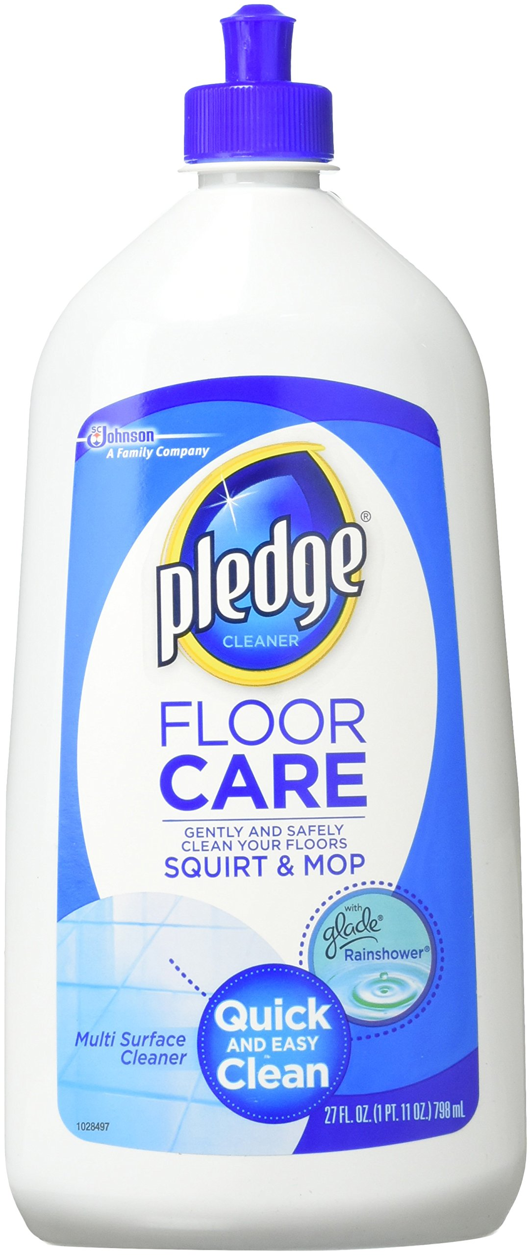Pledge Multi Surface Floor Cleaner, 27-Ounce plastic bottles (Pack of 6),Packaging may vary