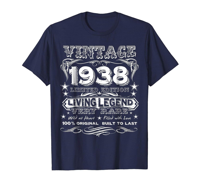 Vintage 1938 Funny 80 Years Old 80th Birthday Gift T Shirt Teechatpro
