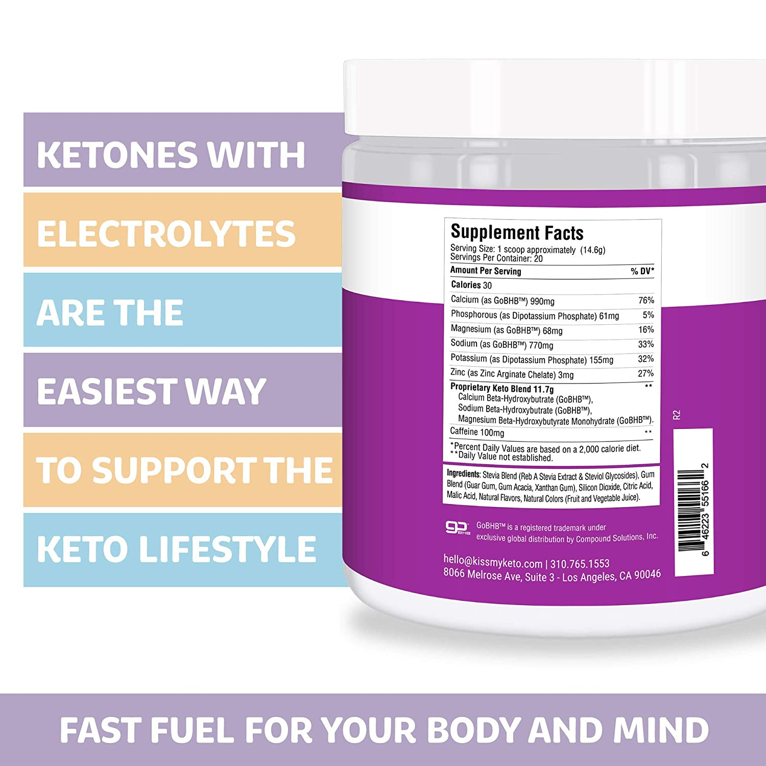 supplement facts exogenous ketones mixed berry kiss my keto