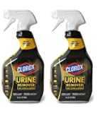 Clorox Urine Remover for Stains and Odors, Spray Bottle, 32 Ounces, Pack of Two