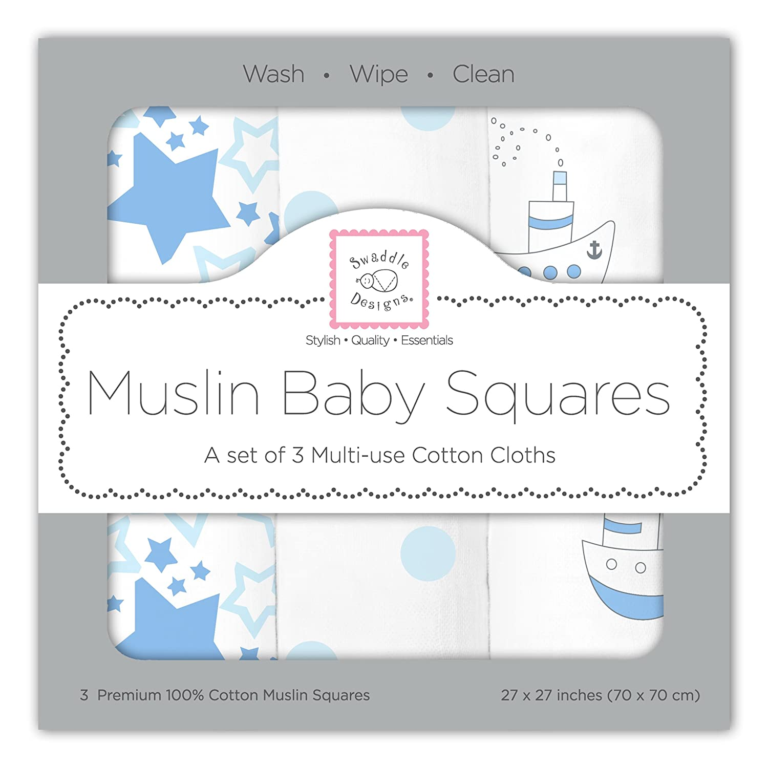 Pack of 6 Premium High Quality Baby Muslin Squares,100/% cotton 70cm x 70cm.