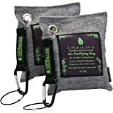 Air Purifying Bag - COZILIFE Natural Bamboo Charcoal Bag , Activated Moso Bamboo Charcoal, Odor Absorber Remover Bag, Gift Box Packing, Moisture Control, 200G (Pack of 2)