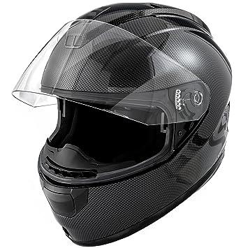 Dot motocicleta casco Full Face Koi brillante de fibra de carbono w/visera – pequeño