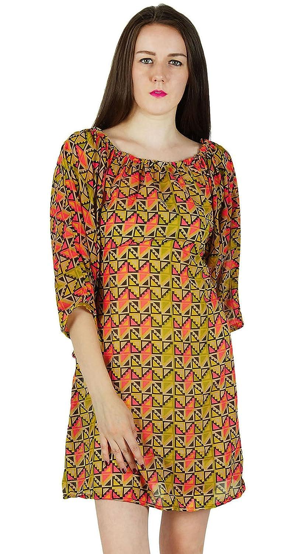 Frauen Sundress Kleid Gedruckt Baumwollbeiläufigen Sommer-Strand