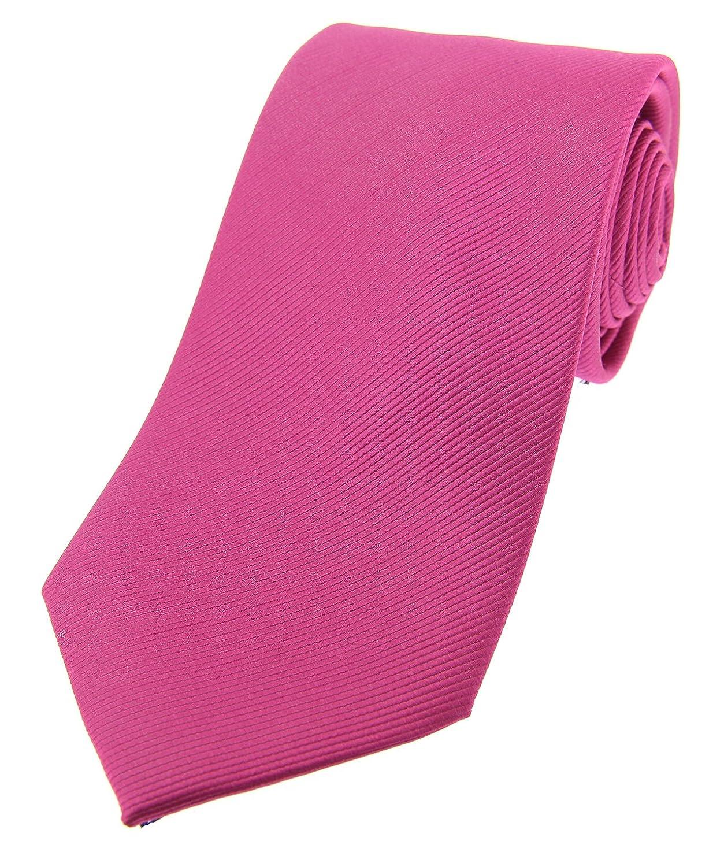 Soprano Plain fucsia de seda corbata: Amazon.es: Ropa y accesorios