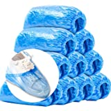 Shoe Covers Disposable - 100 Pack (50 Pairs), Plastic Boot & Shoe Covers disposable non slip Waterproof for Indoors/Outdoors