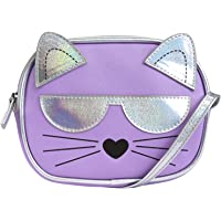Stella & Max Girls' Little Disco Cat Kids Critter Cross Body Handbag, Purple, One Size