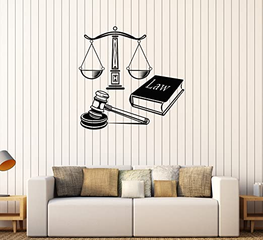 Vinyl Wall Decal Law Court Justice Decoration Mural Stickers 405ig