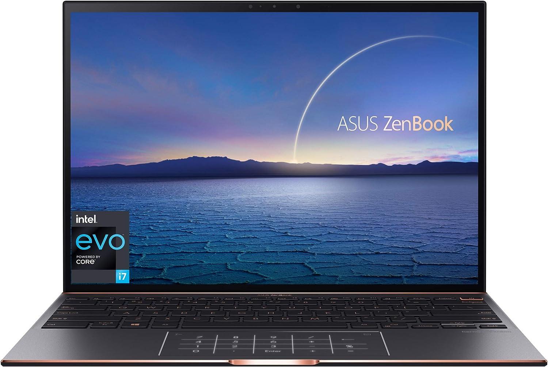 "ASUS ZenBook S Ultra Slim Laptop, 13.9"" 3300x2200 3:2 500nits Touch Display, Intel Evo Platform - Core i7-1165G7 CPU, 16GB RAM, 1TB SSD, Thunderbolt 4, TPM, Windows 10 Pro, Jade Black, UX393EA-XB77T"