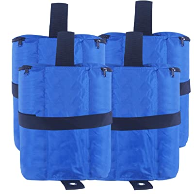ABCCANOPY Tent Weight Bags, Sand Bag for Canopies, Tents, Awnings - 4-Pack of Weight Bags (Blue): Garden & Outdoor