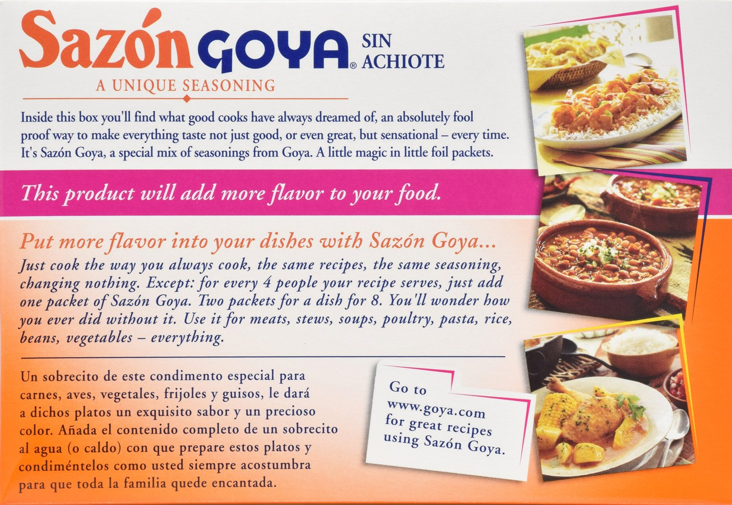 Amazon.com: Goya Foods Sazon Seasoning without Annatto, 3.52 Ounce: Prime Pantry