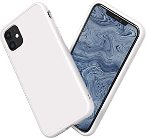 RhinoShield Case Compatible with [iPhone 11] | SolidSuit - Shock Absorbent Slim Design Protective Cover with Premium Matte Finish 3.5M / 11ft Drop Protection - Classic White