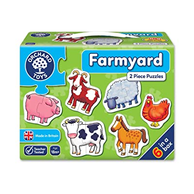Farm Yard 2-Piece Puzzles: Toys & Games