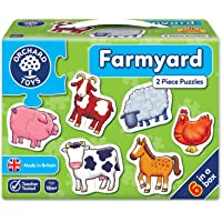 Orchard Toy Early Learning Jigsaw - Farmyard (2 piece puzzles)