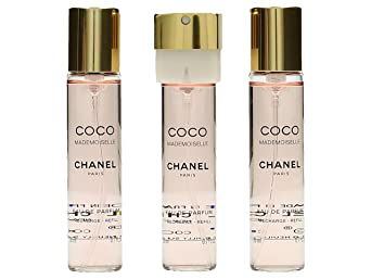9e5a70ba3b Coco Mademoiselle Ric. di Chanel - ricarica Eau De Parfum ric.ca - Spray  3x20 ml.: Amazon.it: echarme