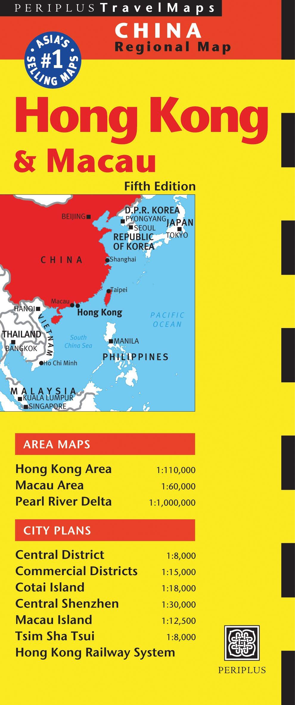Map Of Asia Hong Kong.Hong Kong Travel Map Fifth Edition Periplus Editors 9780794605810