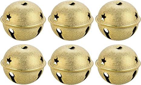80 mm campanello//fascetta Kleenes Traumhandel 6 pezzi XXL 80 mm ferro gold Frozen giusto forte e grande