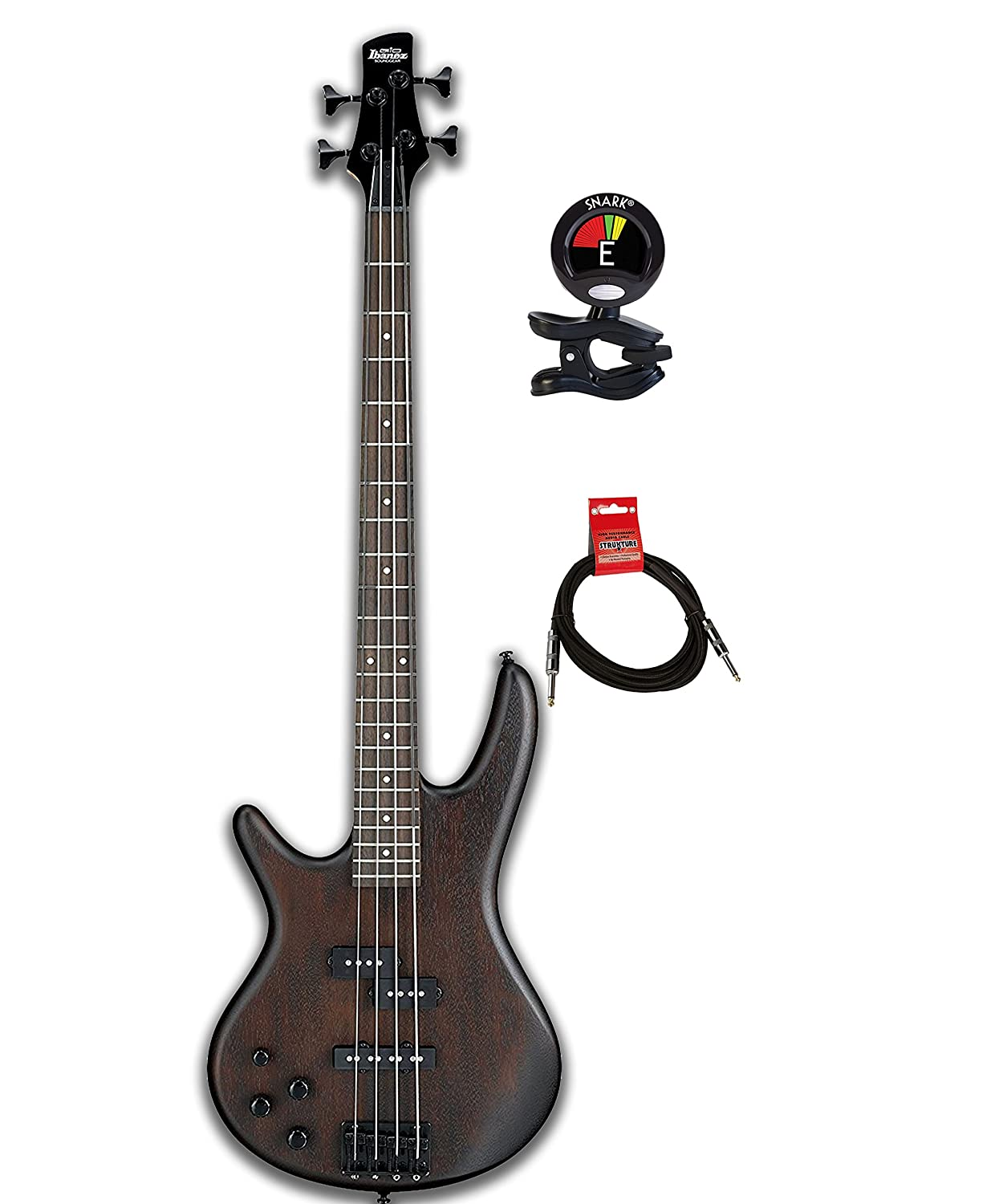 ibanez gio gsr200 4 string electric bass guitar bundle with guitar tuner and instrument cable. Black Bedroom Furniture Sets. Home Design Ideas