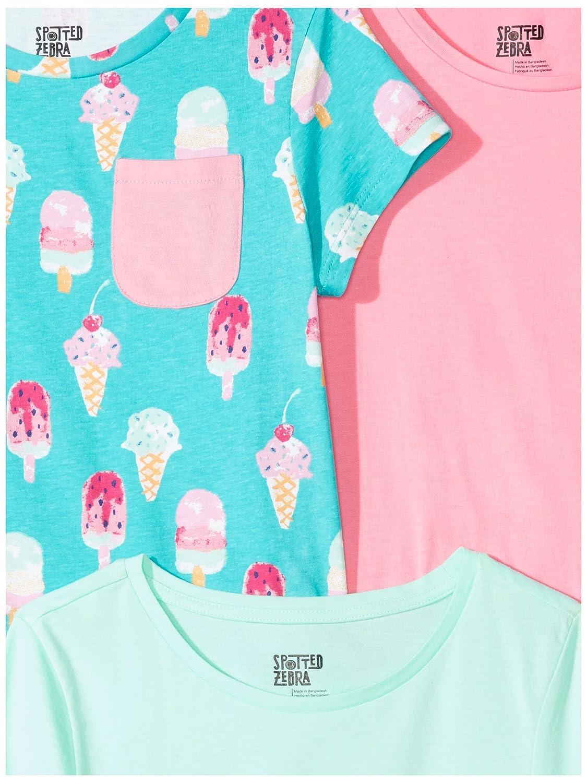 Spotted Zebra Girls 3-Pack Short-Sleeve Tunic Tops Tunic Shirt