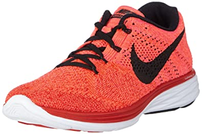 Mens Nike Flyknit Lunar 3 Red/crimson/lava/black 698181-602 Sz