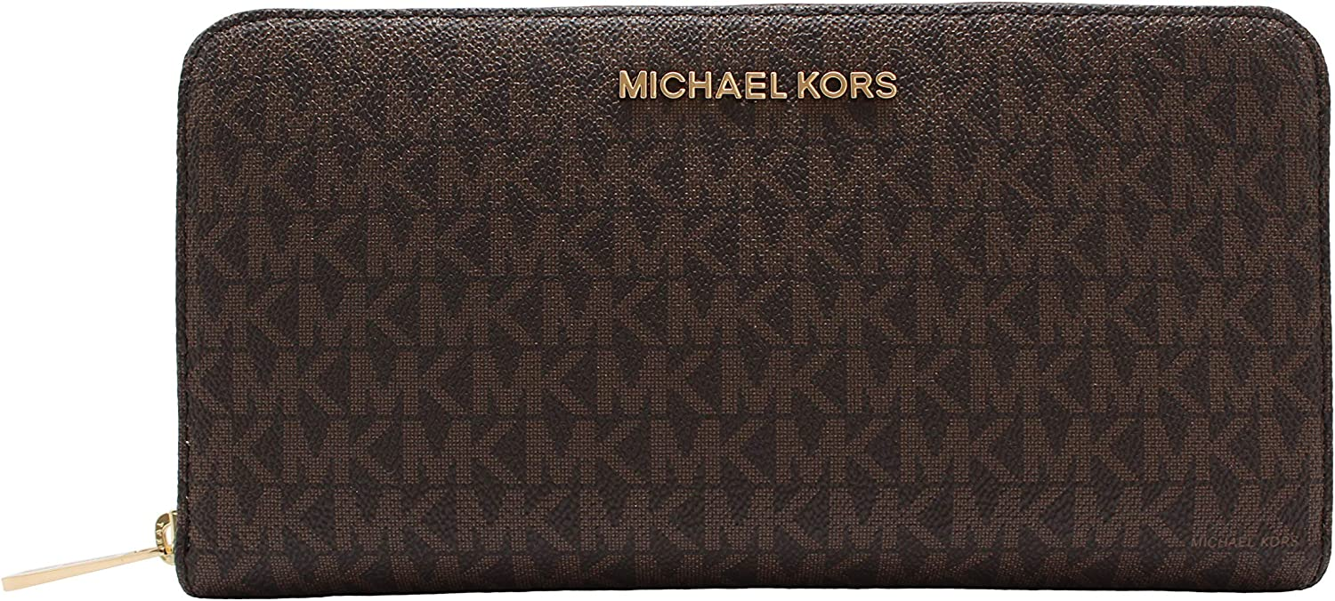 Michael Kors Women's Jet Set Travel Large Travel Wallet Brown