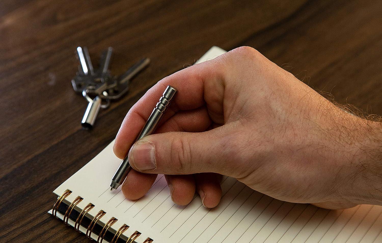 Mini-Kugelschreiber mit Schl/üsselanh/änger aus Edelstahl KeySmart Nano Kugelschreiber