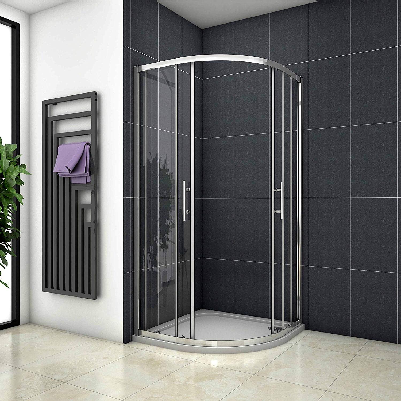 90 x 90 x 185 cm Mampara de ducha redonda ducha cuarto circular ...