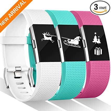 For Fitbit Charge 2 Bands, 12 Color Fitbit Charge 2 Bands Replacement  Wristband For Women Men Gift (Small, Large, Pack, Buckle), Special Edition
