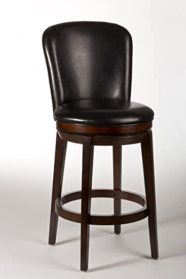 upholstered swivel counter stools with arms leather backless stool chestnut