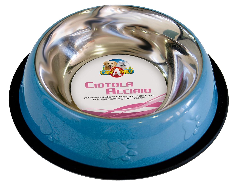 Croci C6059203 Ciotola Acciaio per Gatti o Cani, Multicolore