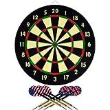 Hey! Play! 15-DG5218 TG Dart Game Set with 6 Darts and Board Dart Board,Black