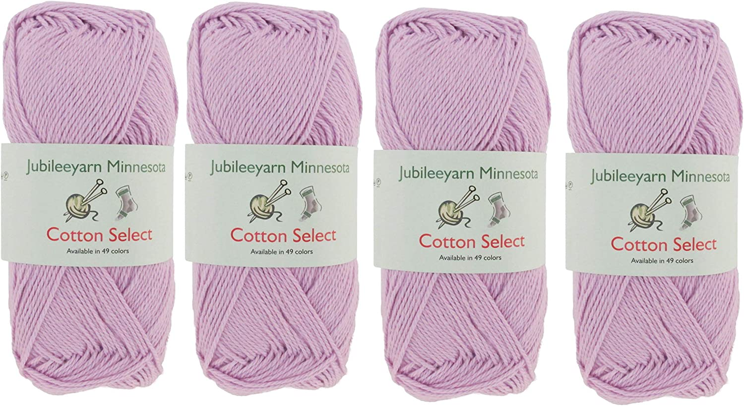 Shades of Pink 4 Skeins Cotton Select Sport Weight Yarn Color Palette Pack 100/% Fine Cotton