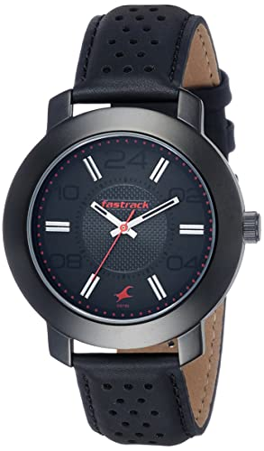 5. Fastrack Analog Black Dial Men's Watch-NK3120NL02