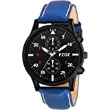 PZOZ Analogue Watches for Men and Boys White Dial