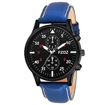 PZOZ Analogue Black Dial Men's Watch