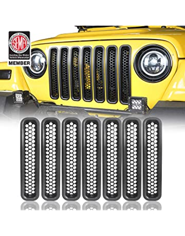 Xtremewarez Chrome Front Grille Grill Mesh Grille Insert Kit /& Head Light Lamp Covers Trim for Jeep Patriot 2011-2017 9PCS