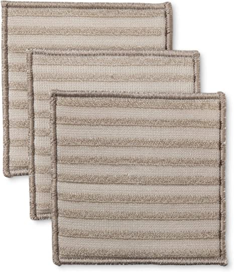 Gray Stripe 3pk Dish Scrubber Room Essentials