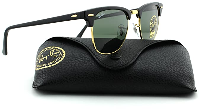 0e10346f5b Amazon.com  Ray-Ban RB3016 Clubmaster Arista Frame Crystal Green ...